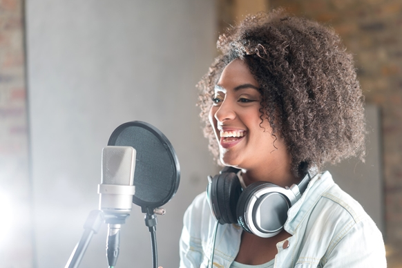 Narrate your own audiobook at the Pop-up Audible Studio